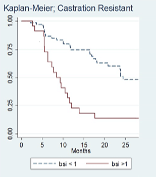 Disease progression is more rapid in patients with BSI>1 than in patients with BSI≤1. [2]